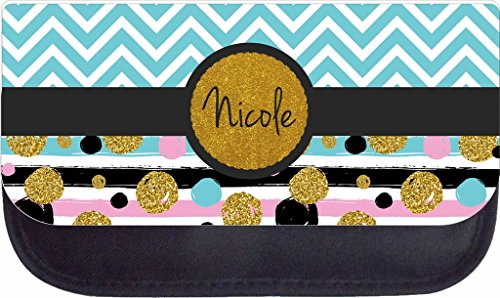 Chevrons and Dotstripes Rosie Parker Inc. TM Custom Pencil Case - Customize Yours Now!