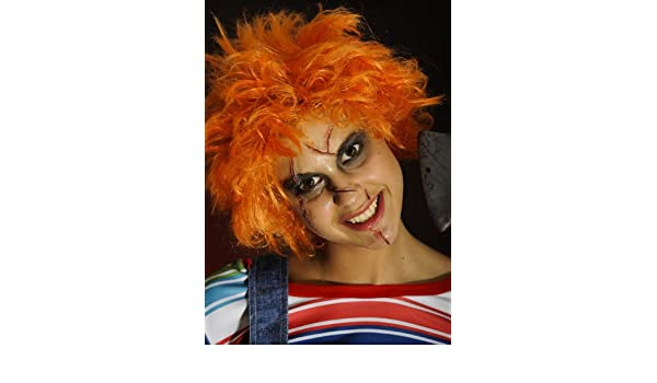 Magic Box Halloween Adulto Peluca Naranja Chucky: Amazon.es: Juguetes y juegos