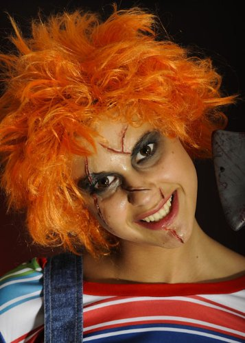 Adult Halloween Orange Chucky Wig