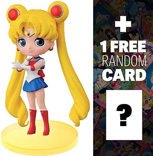 "Sailor Moon: ~2.7"" Q Posket Petit x Sailor Moon Figure Series #2 + 1 FREE Official Sailor Moon Trading Card Bundle (361117)"