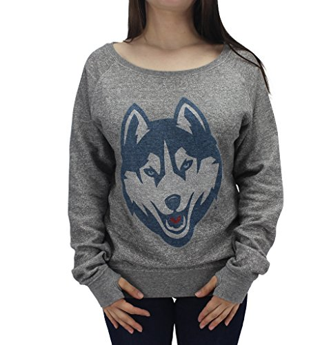 Royce Apparel Pressbox Women' s NCAA UConn University Of Connecticut Huskies Long Sleeve Sweat Shirt ()