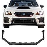Front Bumper Lip Fits 2015-2018 Subaru WRX STI | Factory STI Style Black PP by IKON MOTORSPORTS