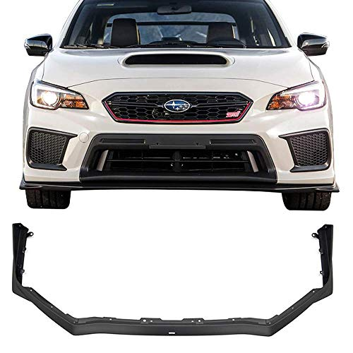 (Front Bumper Lip Fits 2015-2018 Subaru WRX STI | Factory STI Style Black PP by IKON MOTORSPORTS)