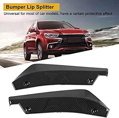 black Car Body Spoiler 1 Pair of Universal Car Modified Rear Bumper Canard Diffuser Spoiler Lip Splitter Fins