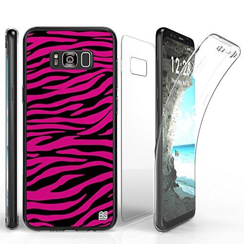 Clear Hot Pink Zebra - 6