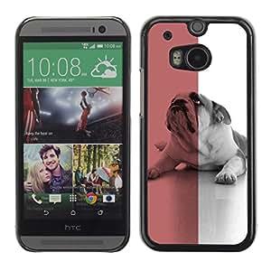 Vortex Accessory Carcasa Protectora Para HTC ONE ( M8 ) - British English Bulldog Red Dog Flag Symbol -