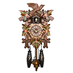 Adolf Herr Quartz Cuckoo Clock - Springflowers