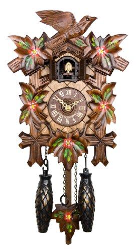 Adolf Herr Quartz Cuckoo Clock - Spring Flowers AH 40/6 QM