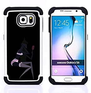 For Samsung Galaxy S6 G9200 - SEXY BLACK WOMAN PINK LINGERIE MIRROR Dual Layer caso de Shell HUELGA Impacto pata de cabra con im??genes gr??ficas Steam - Funny Shop -