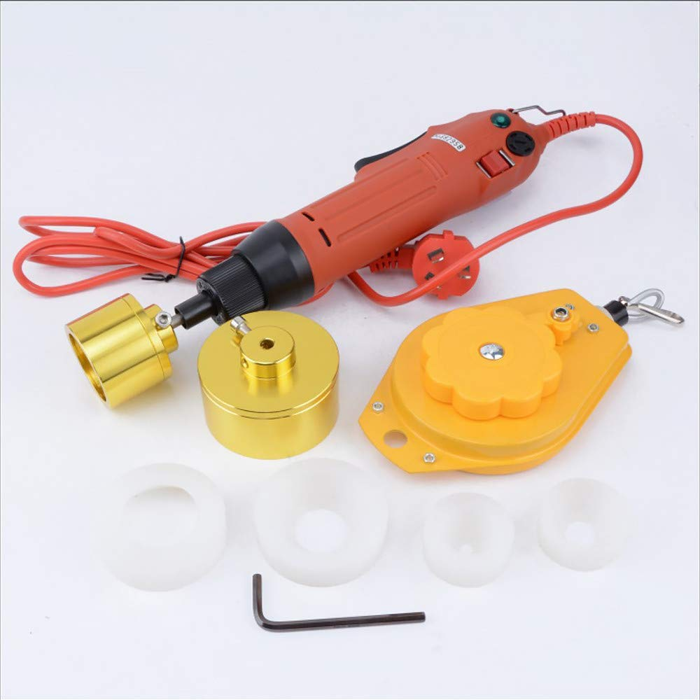 4YANG Tappatore elettrico Tappatore manuale Tappo 220V adatto per 10-50mm fino a 90 bottiglie per un minuto