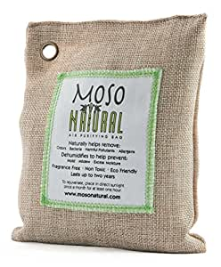 Moso Natural Air Purifying Bag 200g. Naturally Removes Odors, Allergens and Harmful Pollutants. Prevents Mold, Mildew And Bacteria From Forming By Absorbing Excess Moisture. Fragrance Free, Chemical Free And Non Toxic. Reuse For Up To Two Years.