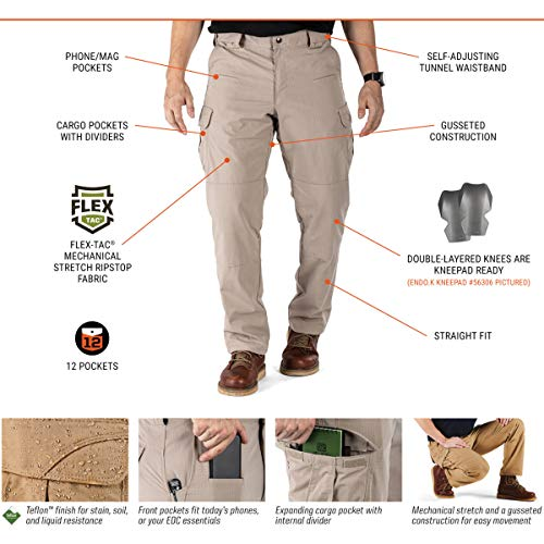 5.11 Tactical Stryke Pant, Battle Brown, 40x30