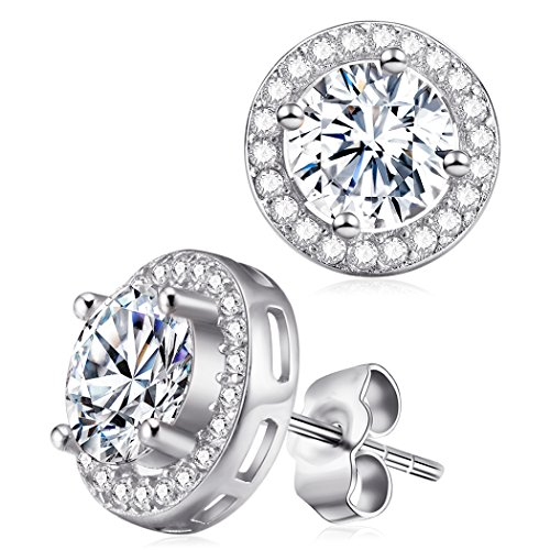 Zirconia Earrings Sterling Diamond Crystal