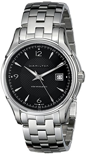 Hamilton Men's H32515135 Jazzmaster Viewmatic Black Guilloche Dial Watch
