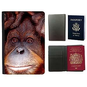 Just Phone Cases Couverture de passeport // M00128558 Orang Utan Mono Zoológico de Melbourne // Universal passport leather cover