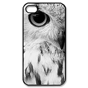 RtCase Vintage Owl Cool Best Durable Case Cover iPhone 5 and 5s Plastic and TPU (Laser Technology)