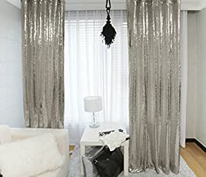 ShinyBeauty Sequin Backdrop 4FTx7FT Grey Sequin PhotoBooth Backdrop For Party Decorations