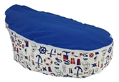 UNFILLED TODDLER Bean Bag Chair | Cozy Adaptable Kids Seat Lounger | Lightweight and Portable With ONE Washable Soft Removable Top Cover (LITTLE SAILOR)