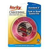 Korky 464BP Universal Toilet Tank To Bowl Gasket & Hardware Kit - Fits Most 2-Inch, 2-Piece Toilet Tanks - Made in USA