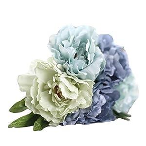 Magnolia Floral Bouquet,Han Shi Modern Artificial Fake Flowers Leaf Wedding Party Decor (S, MulticolorF) 102