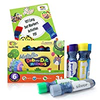 Dab and Dot Markers Metallic 6 Pack in Silver, Red, Gold, Blue, Green and Purple