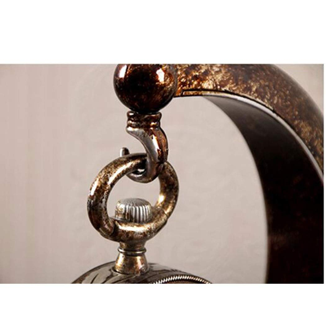 HONGNA European Plastic Clock Ornaments Living Room Home Clocks Atmosphere Sitting Clocks Desktop Pendulum Clock Creative Desk Clock Desktop Clocks 12 Inches (Color : Brown, Size : 12 inches) by HONGNA (Image #6)