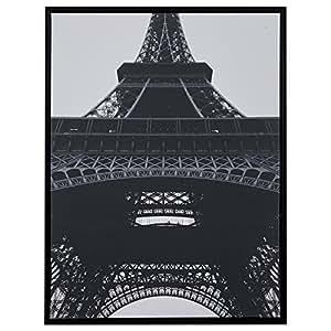 "Black and White Eiffel Tower Print in Black Frame, 31.75"" x 41.75"""