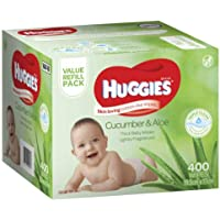 Huggies Thick & Soft Baby Wipes Cucumber & Aloe Vera - Mega Pack 400 Wipes