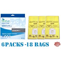 18 Spring Scented Kenmore 5055 Canister Vacuum Bags, 6 Pks of 3 Bags. Proudly Made in USA