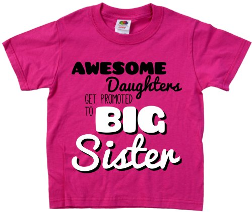 Ann Arbor T-shirt Co. Little Girls' AWESOME DAUGHTERS GET PROMOTED TO BIG SISTER