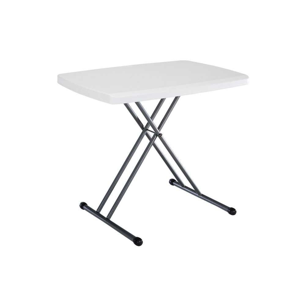 4 foot adjustable height folding table - Amazon Com Lifetime 28241 Folding Personal Table 30 By 20 Inch White Folding Tables Patio Lawn Garden