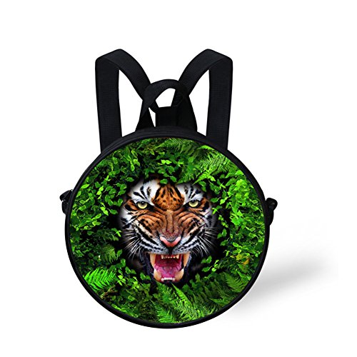 Round FancyPrint for Women Print Crossbody Animals Bag Nyec0443i Girls Round and Backpack wwrESZxO