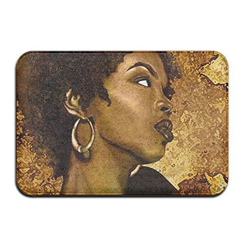 Home&apron Doormat Cover Rug African American Women Art Durable Non-Slip Outdoor Indoor Front Entrance Rug Floor Mats Shoe Scraper Door ()