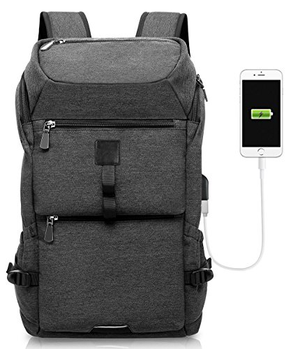 Laptop Backpack, KAKA Business Bags with USB Charging Port A