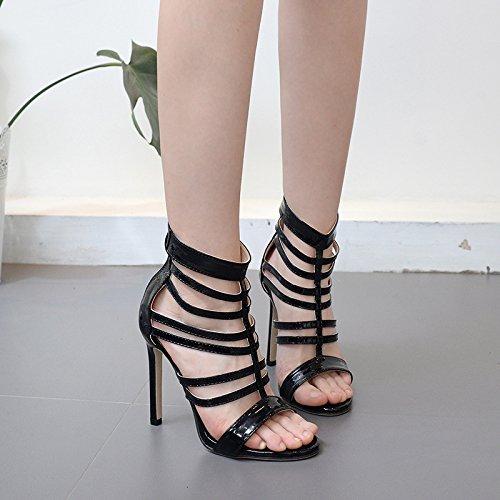 ZHZNVX Bemalte leder High Heels Frühjahr Frühjahr Frühjahr neue Sandalen sexy bemalte Leder High Heels fein mit Fisch Mund Schuhe mit hohen Absätzen 7da7ad