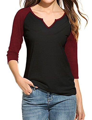Regna X Love Coated for Women Basic Raglan Baseball t-Shirts ()