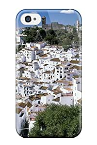 CbwUGXc1228ARFzU Case Cover Casares Spain White Houses Region Nature Other Iphone 4/4s Protective Case
