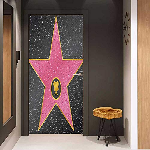 Onefzc Sticker for Door Decoration Popstar Party Hollywood