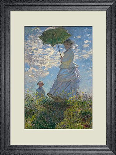 Creative 3D Visual Effect Wall Mural Woman with a Parasol Madame Monet and Her Son by Claude Monet Peel Stick Wall Decor