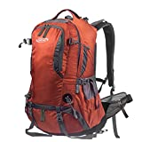 G4Free 50L Outdoor Backpack Camping Climbing Hiking Backpack for Backpacker Unisex Bag with Rain Cover(Orange)