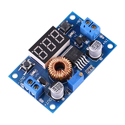 Support Standoff Adjustable (1 Pc DC-DC Buck Converter Voltage Regulator Step Down Module Adjustable with Heatsink Standoffs and Nuts 5A 4.0V~38V to 1.25V~36V)