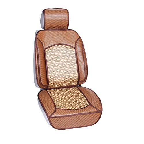 Qbedding Soothing Drive Cooling Series Universal Fit Breathable Car Seat Covers (Rattan) ()