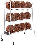 BSN Sports Ball Cart Wide Base (12 Balls)