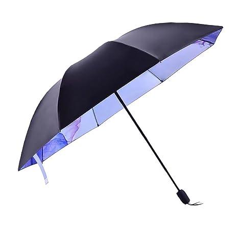 Paraguas Plegable Antiviento Parasol Con Diseño De 2 Capa Distinto Color Elegible Por Dentro O Por