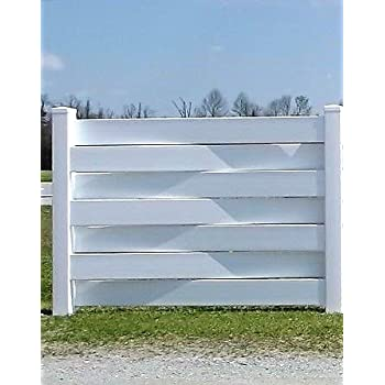 Amazon com : ONE PVC 6' x 4' Vinyl Basket Weave Fence Panel/Section