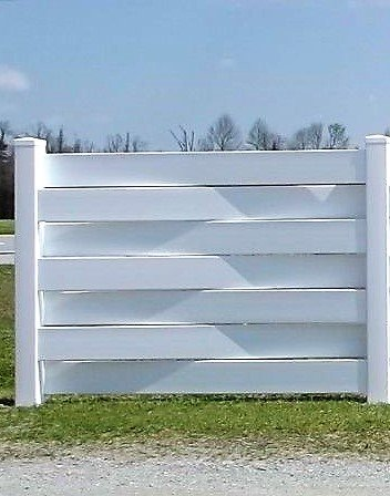 ONE PVC 6' x 4' Vinyl Basket Weave Fence Panel/Section with ONE Post - NO Glue - NO Screws