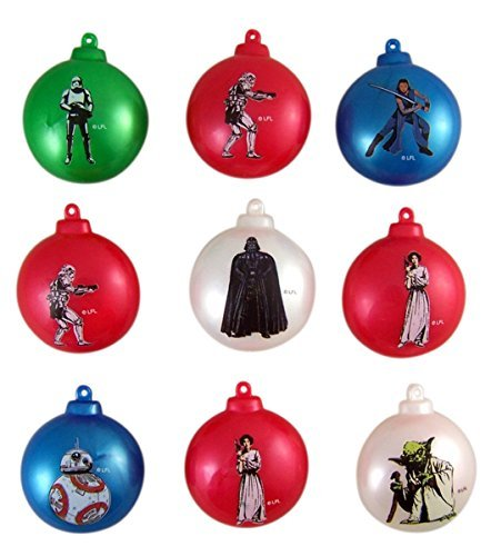 Star Wars Candy Filled Christmas Ornament Containers, Pack of 9