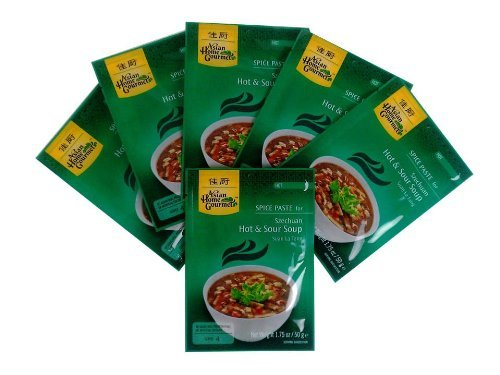 - Asian Home Gourmet, Spice Paste for Szechuan Hot & Sour Soup 1.75oz, Pack of 6