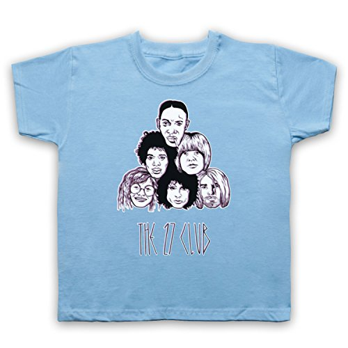 My Icon Little Boys' Dead Musicians 27 Club T-Shirt, Sky Blue, 5-6 ()