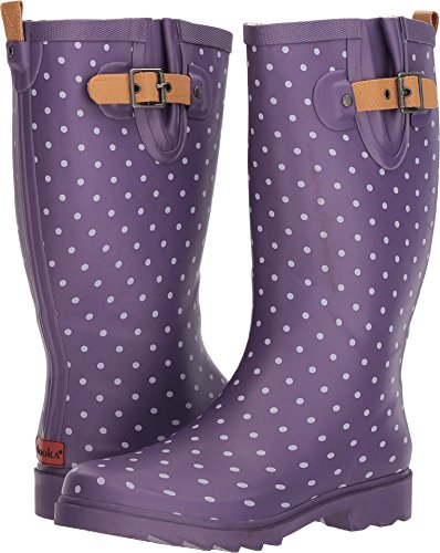 Chooka Women's Printed Rain Boots Eggplant 7 M US